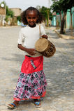 Portrait of the young Ethiopian girl Stock Photography