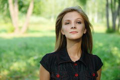 Portrait of young fair-haired woman Royalty Free Stock Photography