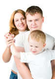 Portrait young family Stock Photography