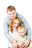 Portrait young family Stock Images