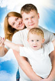 Portrait young family Royalty Free Stock Photos