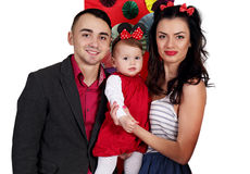 Portrait of a young family Stock Photo