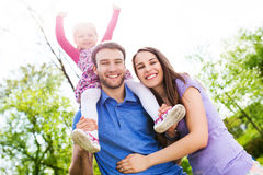 Portrait of young family Royalty Free Stock Images