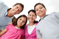 Portrait of young family looking happy Royalty Free Stock Images