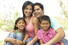 Portrait Of Young Family In Park Stock Photography