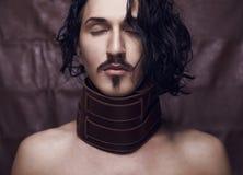 Portrait of young fashion macho. Stock Photo