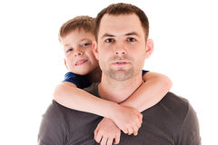 Portrait young father with his son Royalty Free Stock Photo