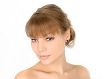 Portrait of the young female. Royalty Free Stock Image