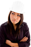 Portrait of young female architect Stock Photos