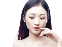 Portrait of a young female asian model Stock Images
