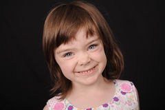 Portrait of a young female child royalty free stock photos