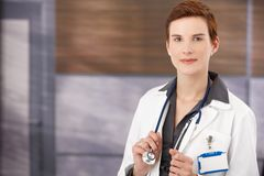 Portrait of young female doctor Stock Photo