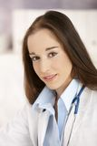 Portrait of young female doctor Royalty Free Stock Images