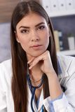 Portrait of young female doctor Stock Images