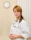 Portrait of young female doctor Stock Image