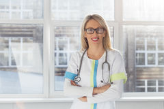 Portrait of young female doctor Royalty Free Stock Photo