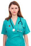 Portrait of a young female doctor with stethoscope Royalty Free Stock Image