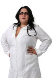 Portrait of a  young female doctor Stock Photos