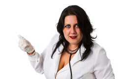 Portrait of a  young female doctor Royalty Free Stock Images