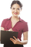 Portrait of a young female entrepreneur Royalty Free Stock Photos