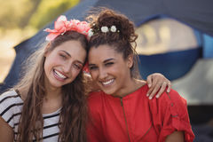 Portrait of young female friends Royalty Free Stock Photos