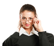 Portrait of a young female judge, isolated on Royalty Free Stock Images