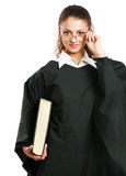 Portrait of a young female judge, isolated on Royalty Free Stock Photos