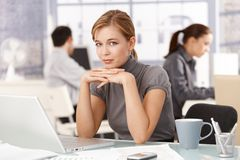 Portrait of young female office worker Royalty Free Stock Photo