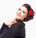 Portrait of Young Female Opera Singer Royalty Free Stock Image
