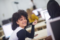 Portrait of young female student Royalty Free Stock Images
