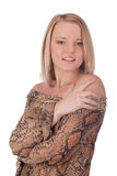 Portrait young female in studio Royalty Free Stock Photo