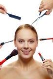 Creating beauty Stock Photography