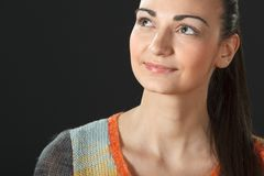 Portrait of young female in sweater Royalty Free Stock Photography