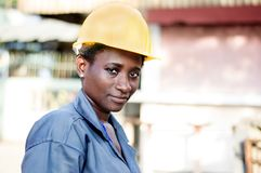 Portrait of a young female worker Stock Images