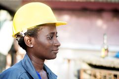 Portrait of a young female worker Stock Photography