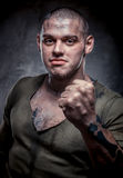 Portrait of young fighter Royalty Free Stock Images