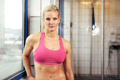 Portrait of Young Fit Woman Royalty Free Stock Images