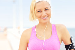 Portrait of young fit woman Royalty Free Stock Image