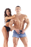 Portrait of young fitness couple Royalty Free Stock Photo