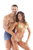 Portrait of young fitness couple Stock Photography