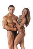 Portrait of young fitness couple Stock Photos