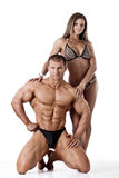Portrait of young fitness couple Stock Images