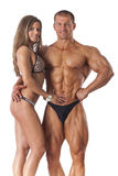 Portrait of young fitness couple stock image