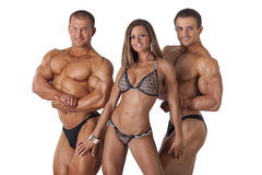 Portrait of young fitness people stock image