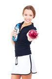 Portrait of young  fitness woman Royalty Free Stock Photography