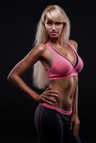 Portrait of young fitness woman Stock Image