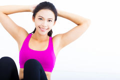 Portrait of young  fitness woman Royalty Free Stock Image