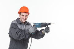 Portrait of young foreman in room Royalty Free Stock Photography