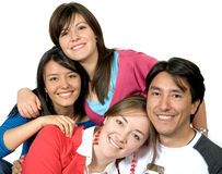 Portrait of young friends Royalty Free Stock Photography