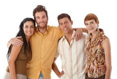 Portrait of young friends Royalty Free Stock Images